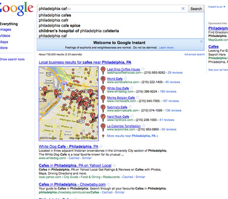 Philadelphia Cafe Search Results