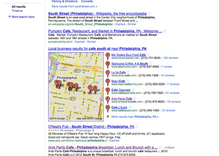 Philadelphia Cafe South St Search Results