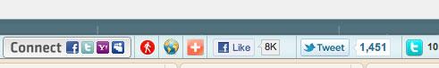 wibya toolbar for social sharing