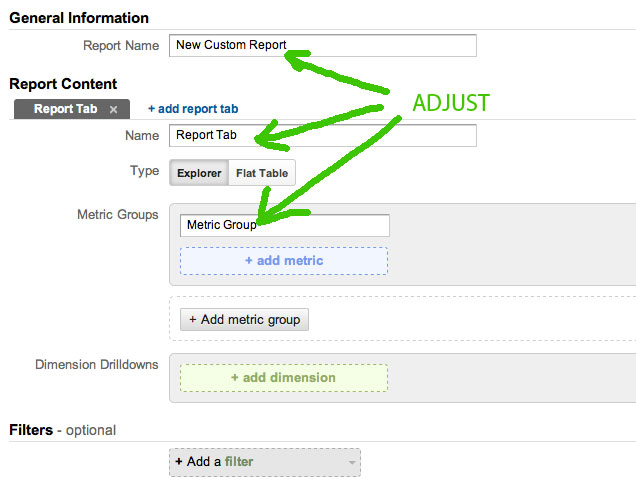 GA custom1 Our Favorite Search Marketing Google Analytics Custom Report